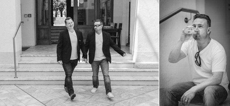 hochzeitsfotograf kaernten, bojan und roman, ein gleichgeschlechtliches paar beim einzug in das standesamt in feldkirchen