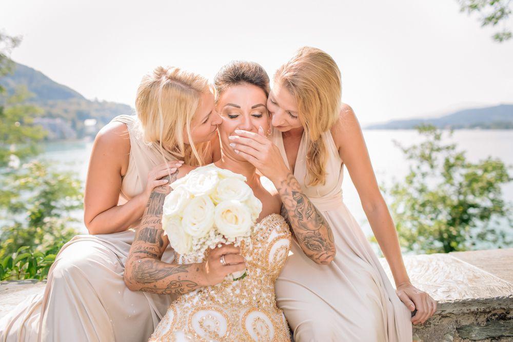Perlmutt Pictures Hochzeitsfotograf Kaernten Hochzeit im Schloss Maria Loretto am Woerther See, Bridemaids