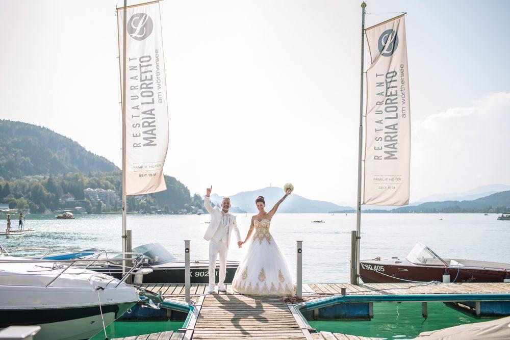 Perlmutt Pictures Hochzeitsfotograf Kaernten Hochzeit am Woerther See im Schloss Maria Loretto