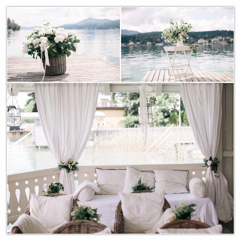 Blumen und Dekoration im Badehaus Seeschlössl Velden von Perlmutt Pictures, Ringe, Freude