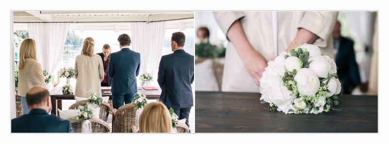 Standesamtliche Hochzeit Ute und Thomas im Seeschlössl Velden, Brautstrauss, von Perlmutt Pictures, Ringe, Freude